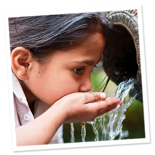 child drinking image