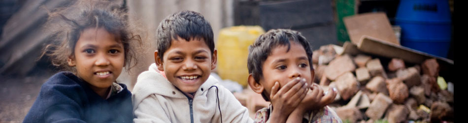Header image of kids on street in India